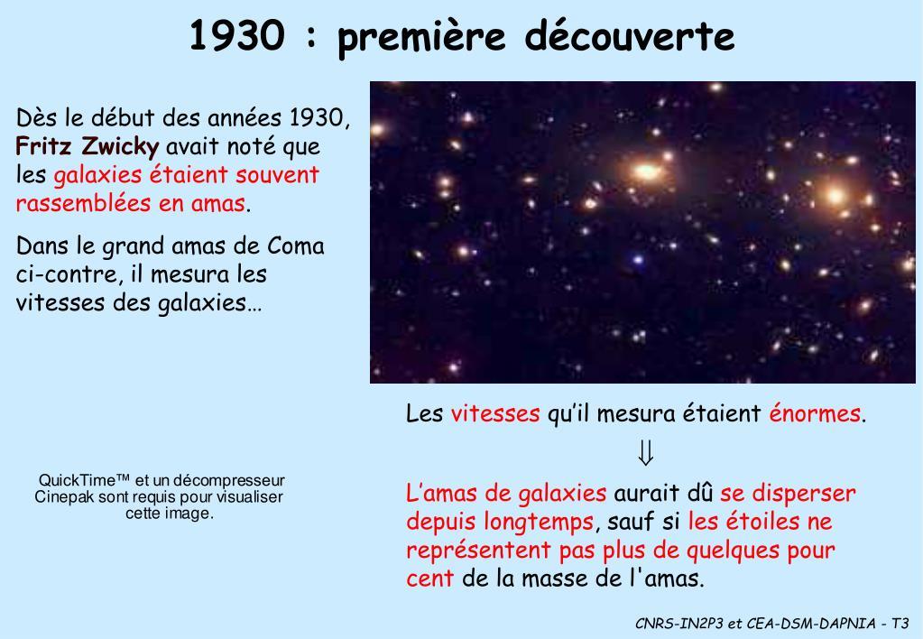 1930 : première découverte