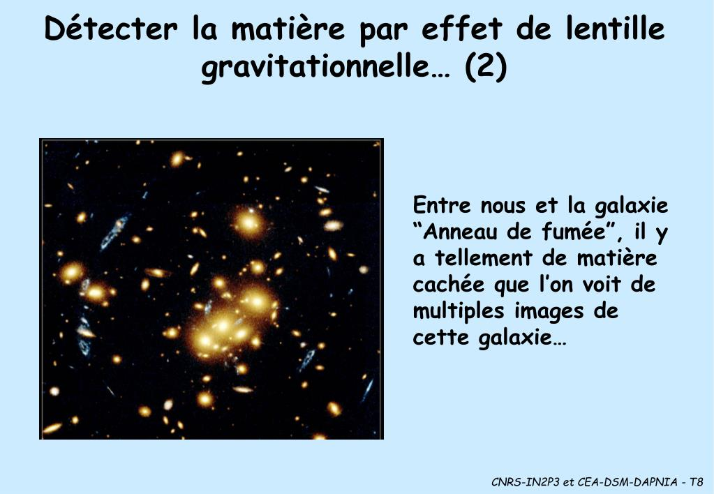 Détecter la matière par effet de lentille gravitationnelle… (2)