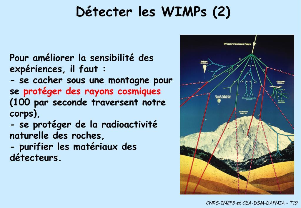 Détecter les WIMPs (2)
