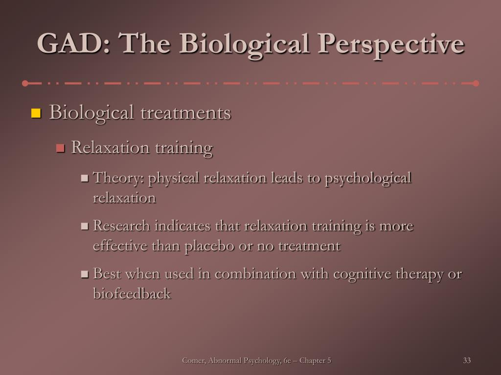 GAD: The Biological Perspective