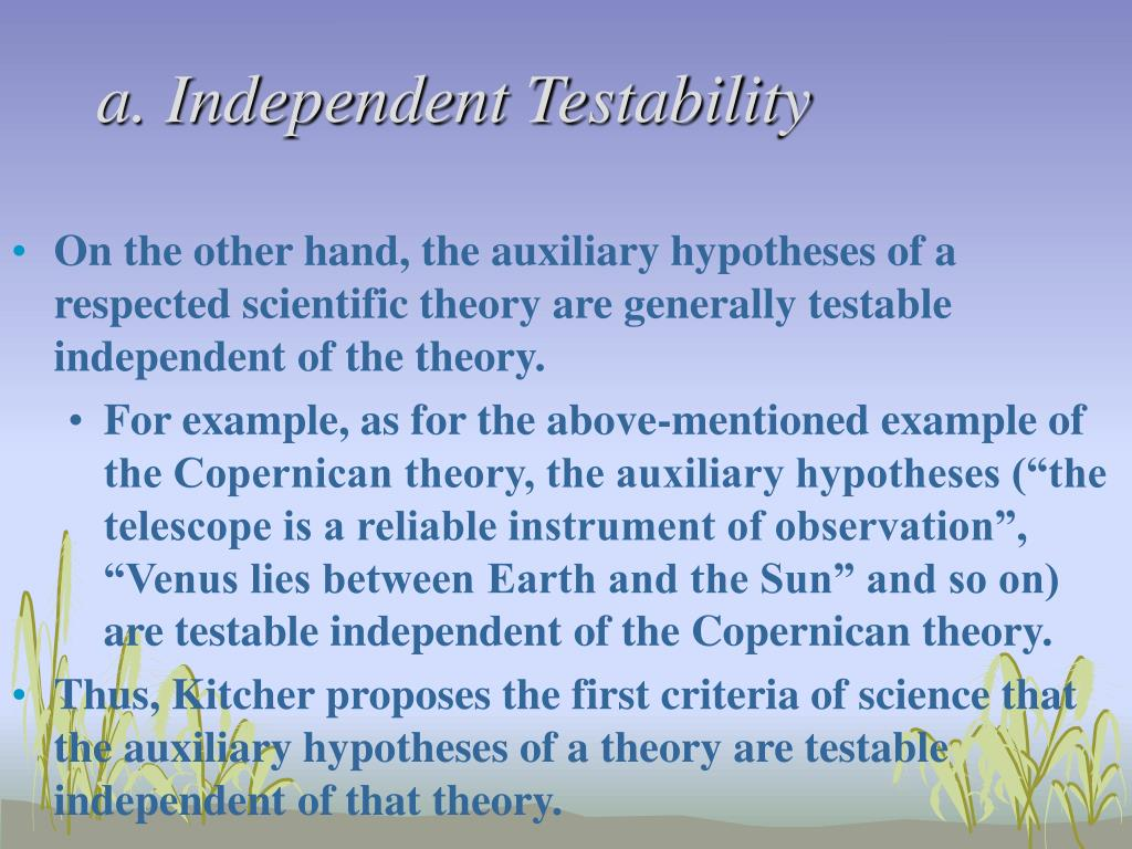 a. Independent Testability