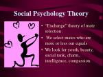social psychology theory