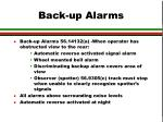 back up alarms
