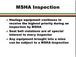 msha inspection