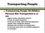 transporting people