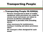 transporting people22