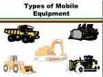 types of mobile equipment