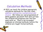 calculation methods