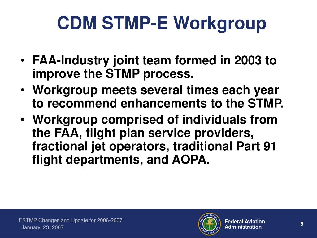 CDM STMP-E Workgroup