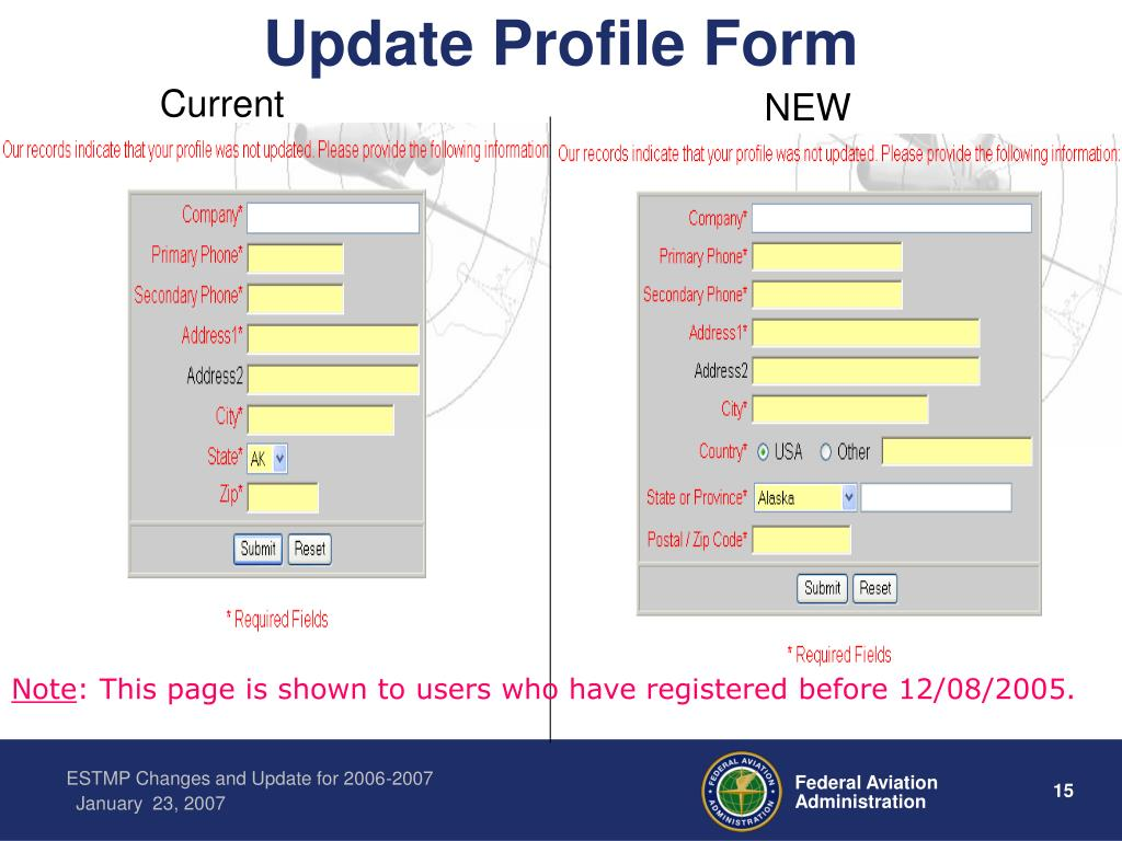 Update Profile Form