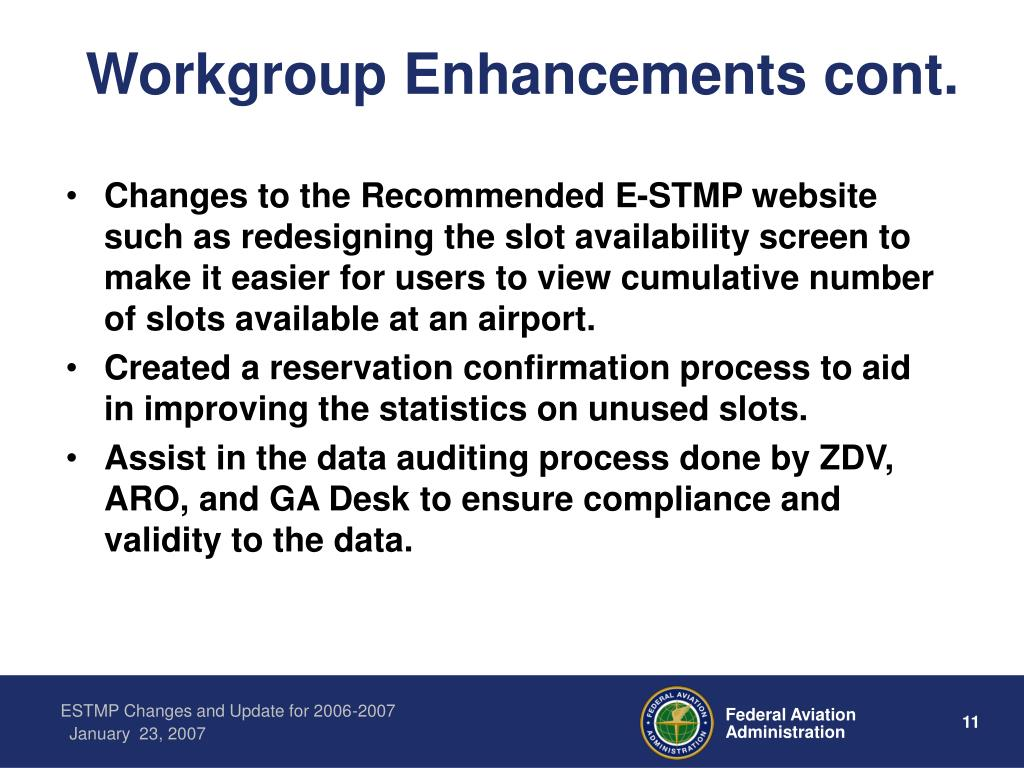 Workgroup Enhancements cont.