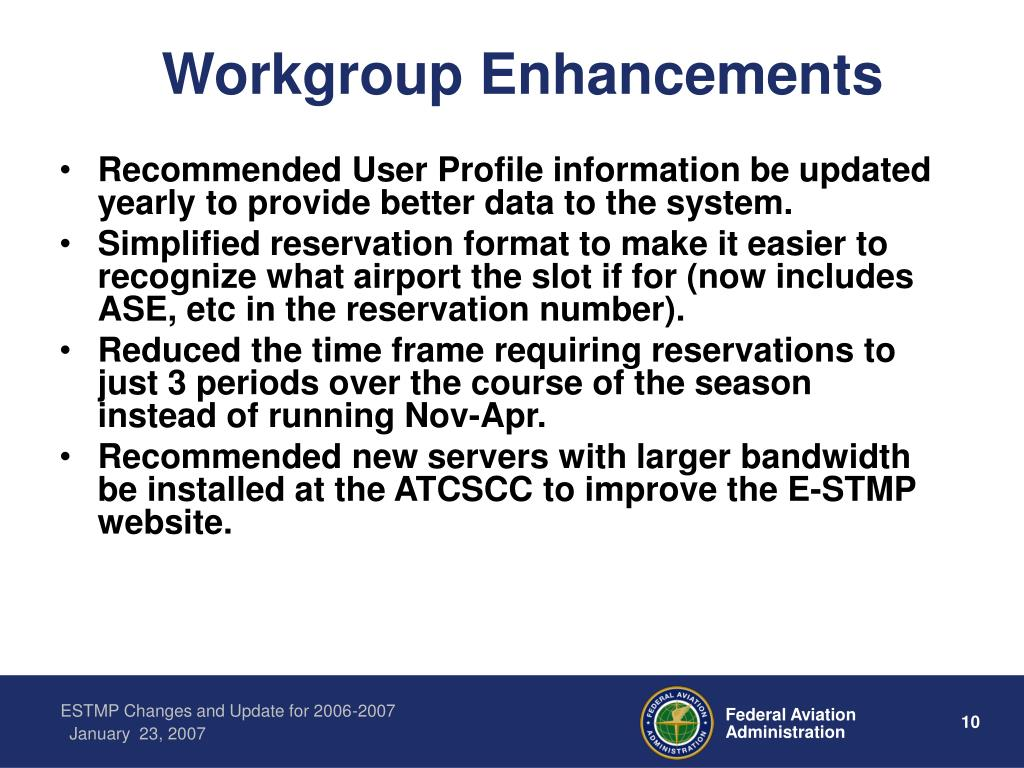 Workgroup Enhancements