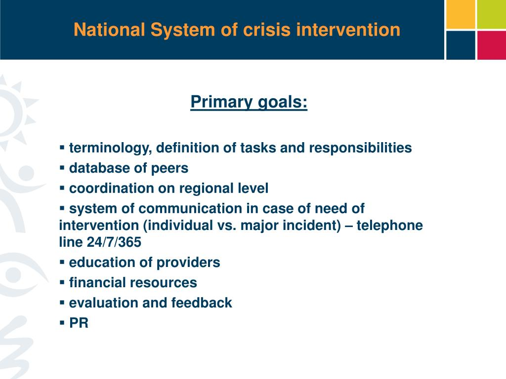 National System of crisis intervention