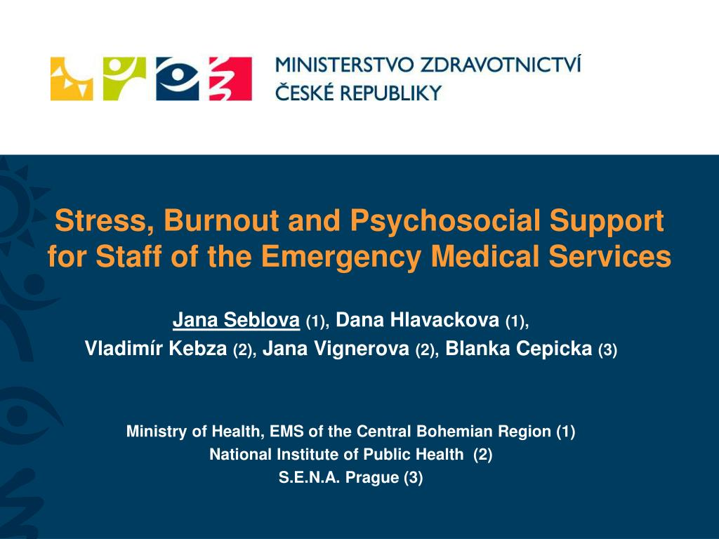 Stress, Burnout and Psychosocial Support for Staff of the Emergency Medical Services