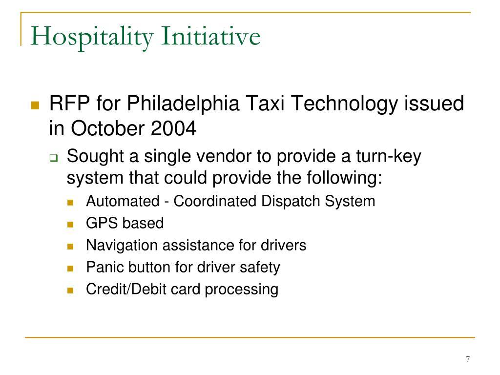 Hospitality Initiative