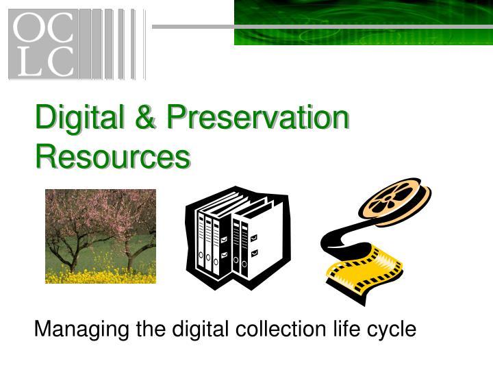 Digital preservation resources