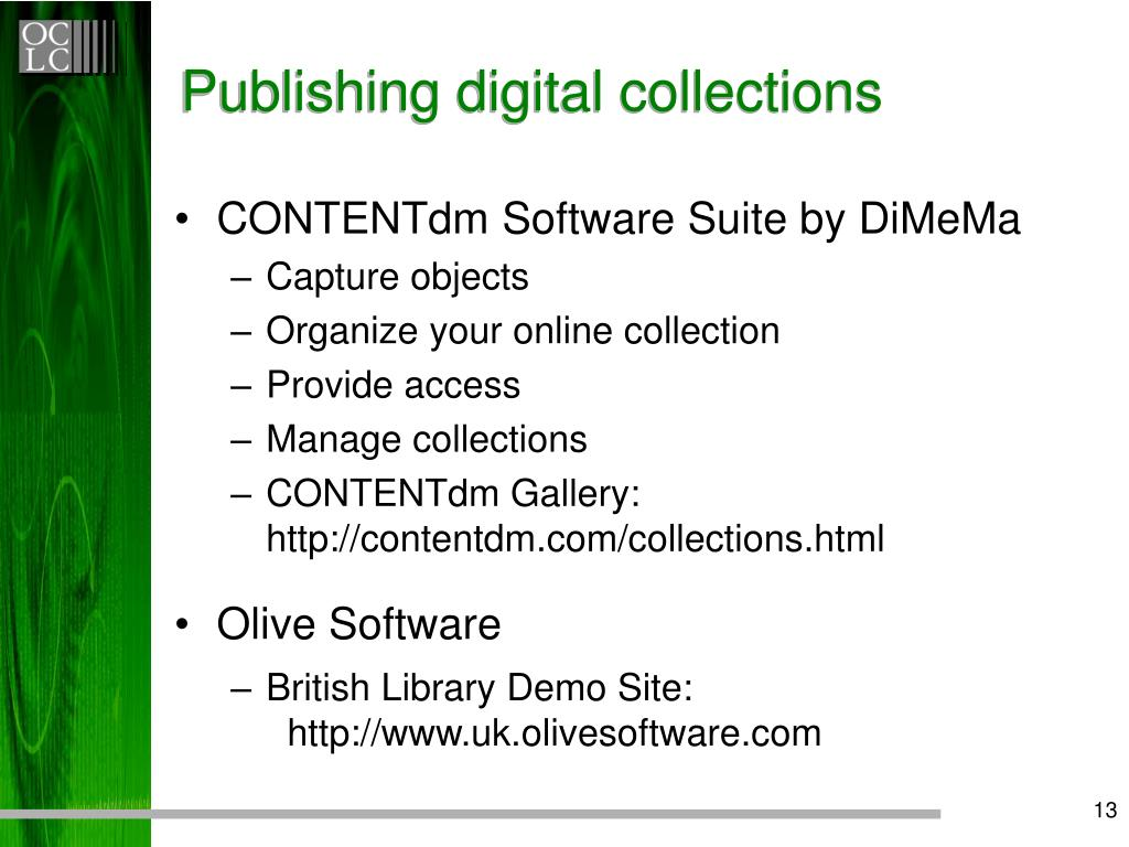 Publishing digital collections