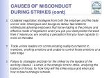 causes of misconduct during strikes cont5