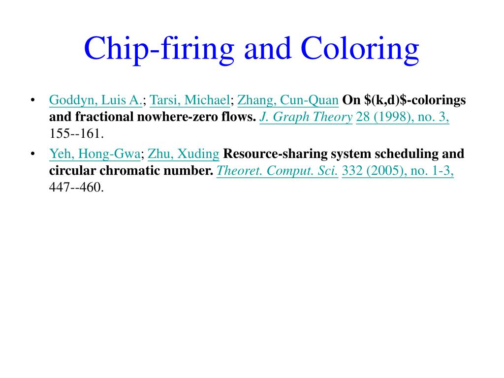 Chip-firing and Coloring