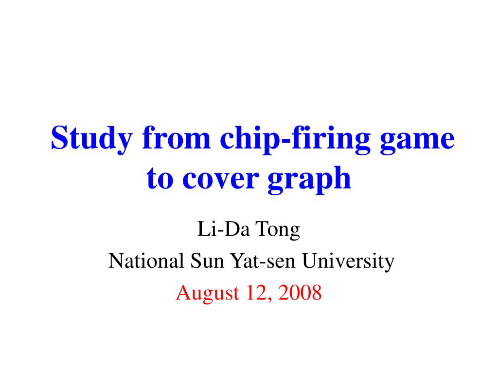 study from chip firing game to cover graph l.