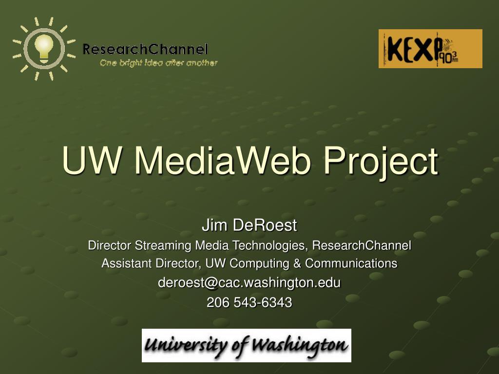 uw mediaweb project l.