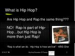 what is hip hop