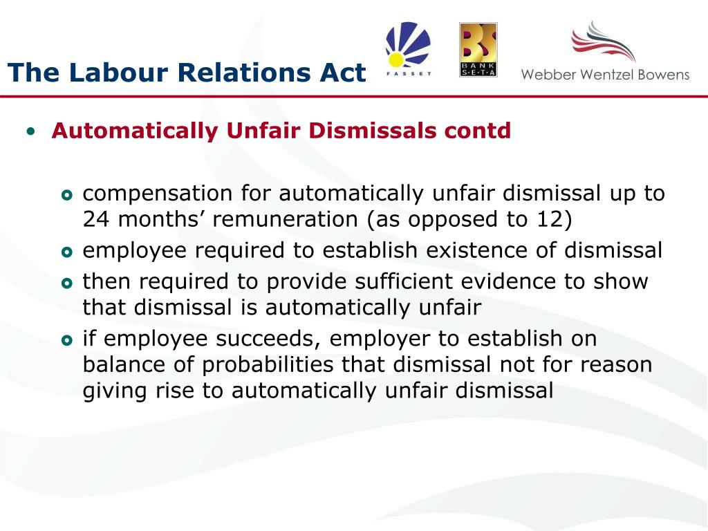 The Labour Relations Act