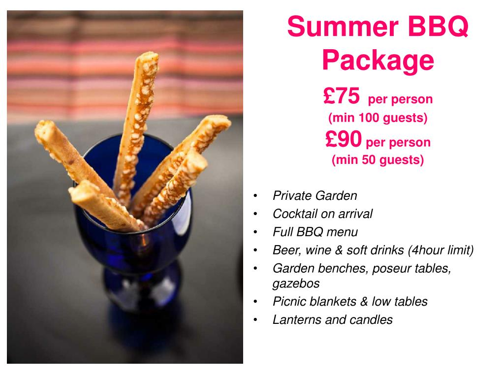 Summer BBQ Package