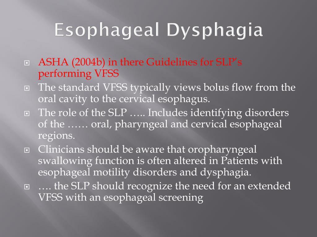 Esophageal Dysphagia