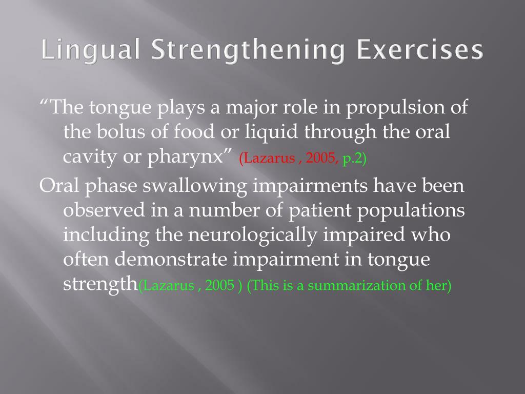 Lingual Strengthening Exercises