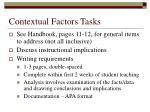 contextual factors tasks