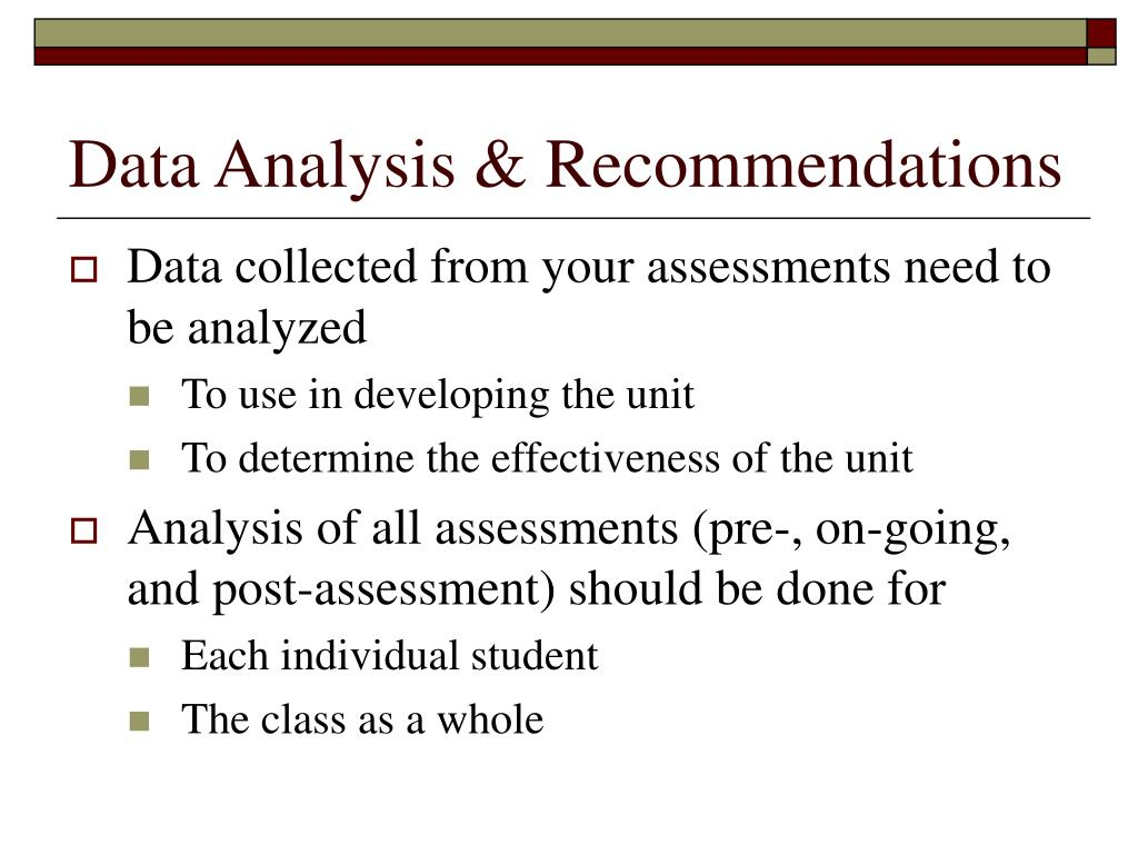 Data Analysis & Recommendations