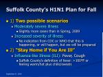suffolk county s h1n1 plan for fall