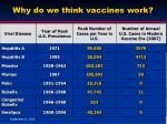 why do we think vaccines work