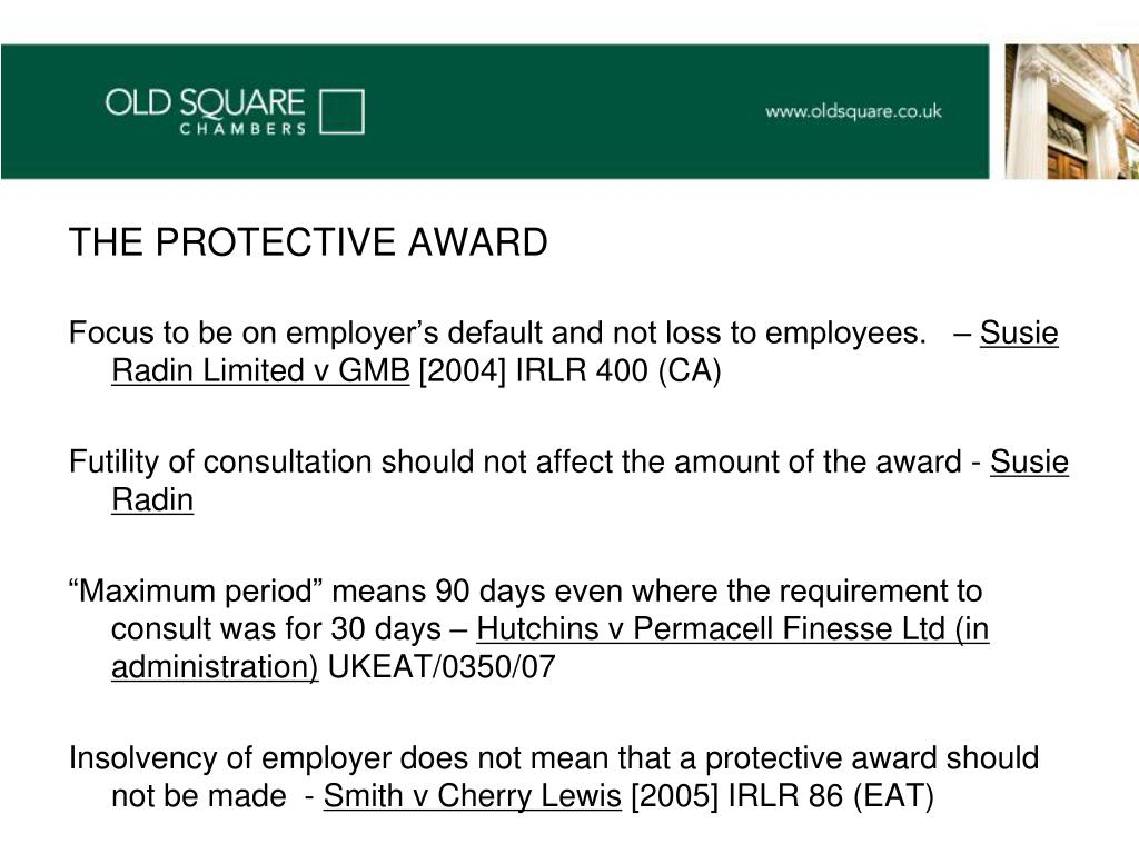 THE PROTECTIVE AWARD