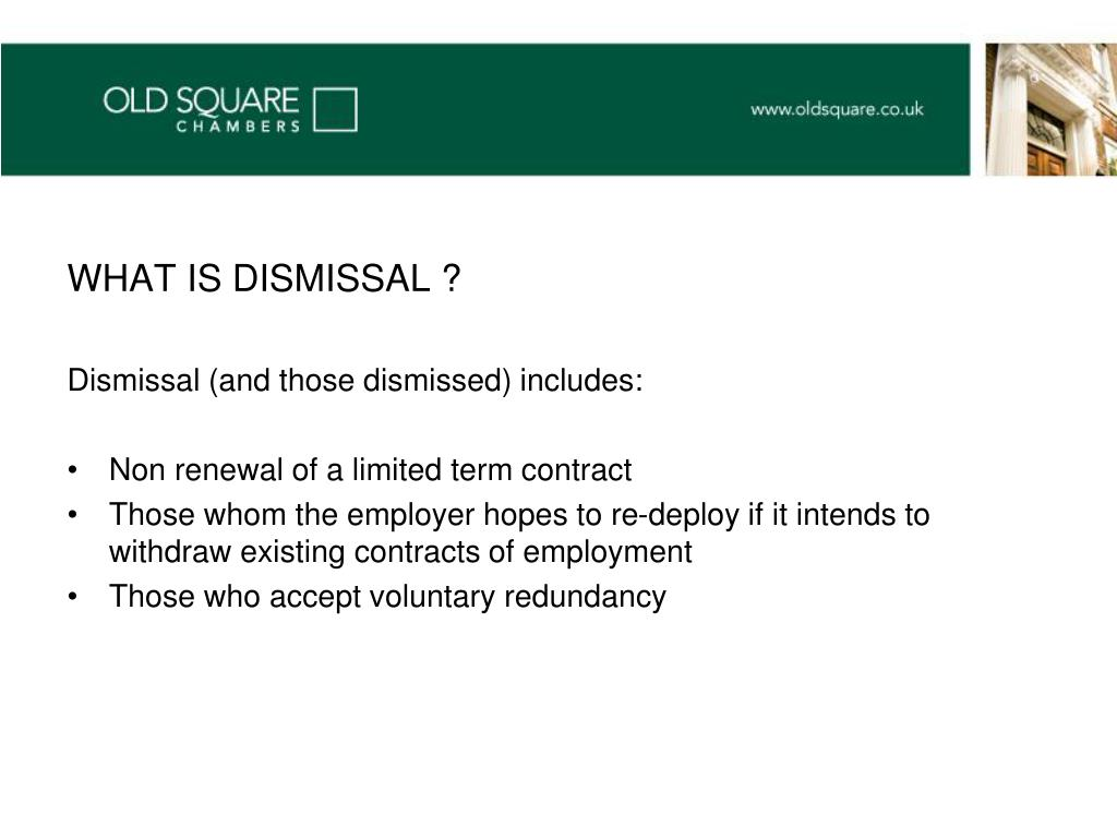 WHAT IS DISMISSAL ?