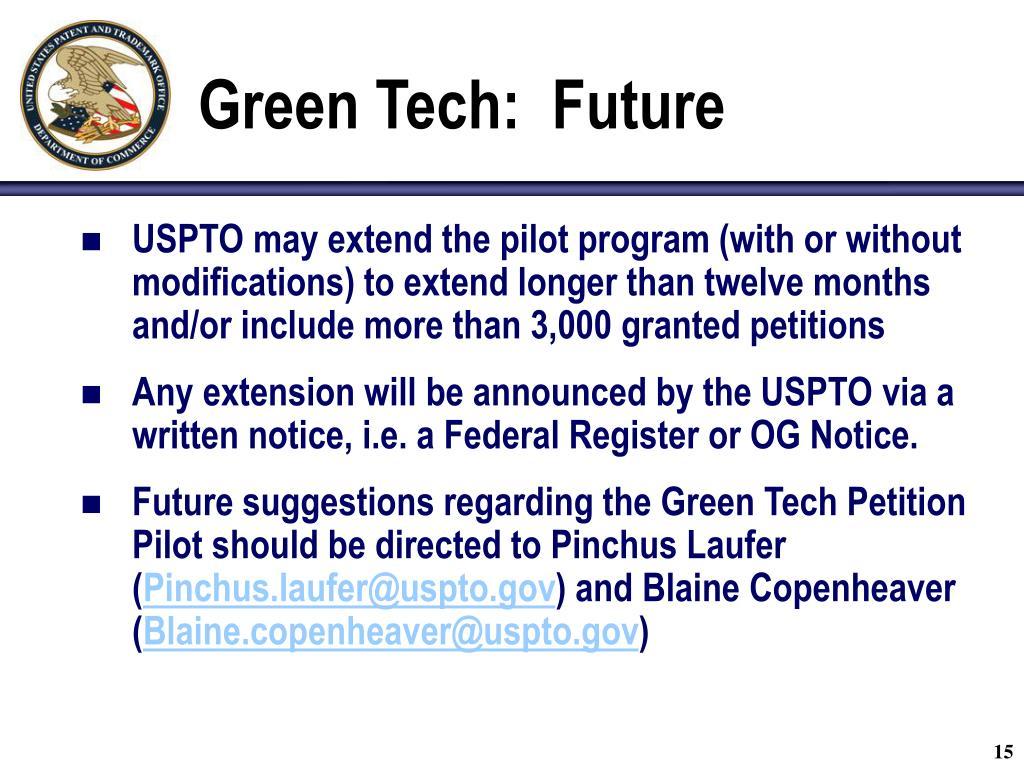 Green Tech:  Future