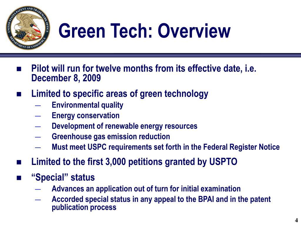 Green Tech: Overview
