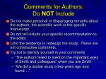 comments for authors do not include