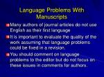 language problems with manuscripts
