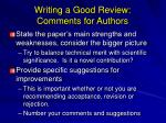 writing a good review comments for authors