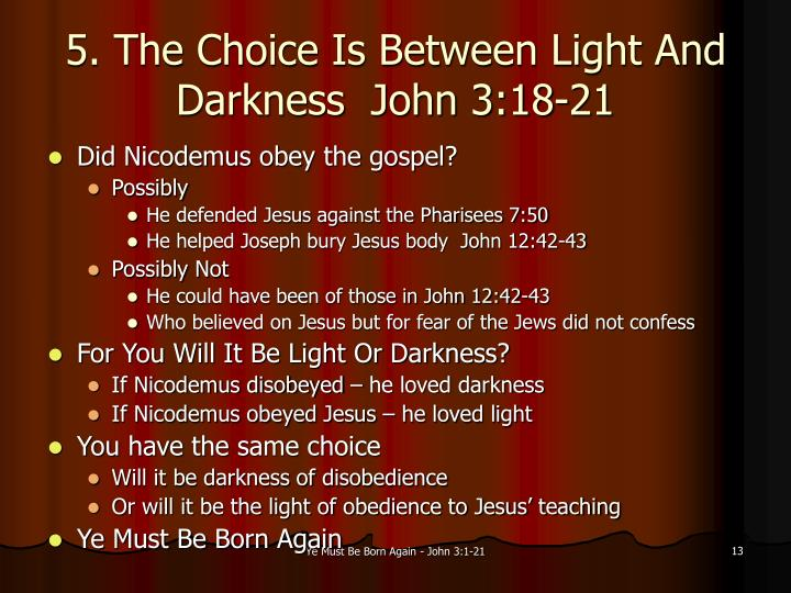 distinction between light and darkness Is, was and will be the unknown character of christ and his word  the darkness and the light are both alike to thee  i hope this helps you to see more clearly what the difference between the two lights mentioned in genesis is all about your brother in christ, mike.
