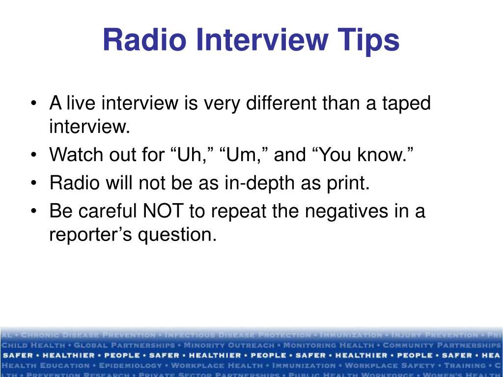 Radio Interview Tips