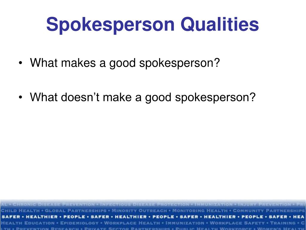 Spokesperson Qualities