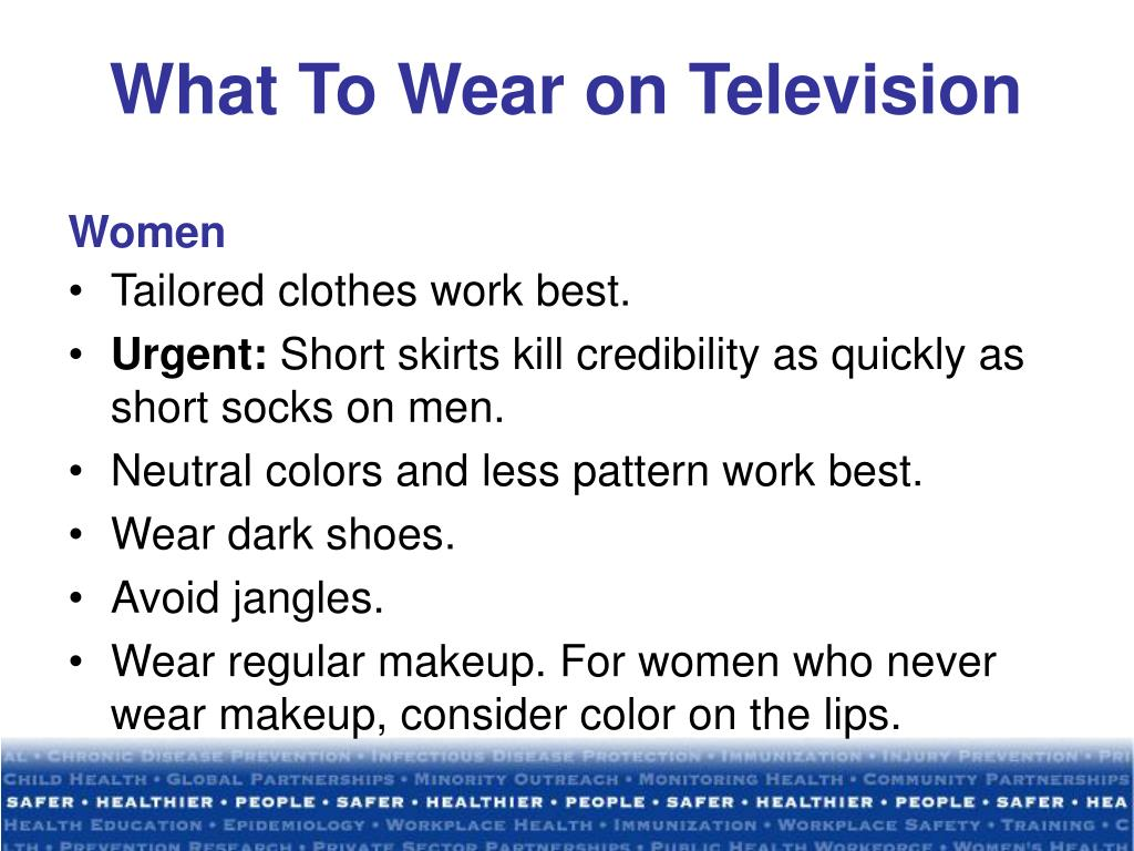 What To Wear on Television