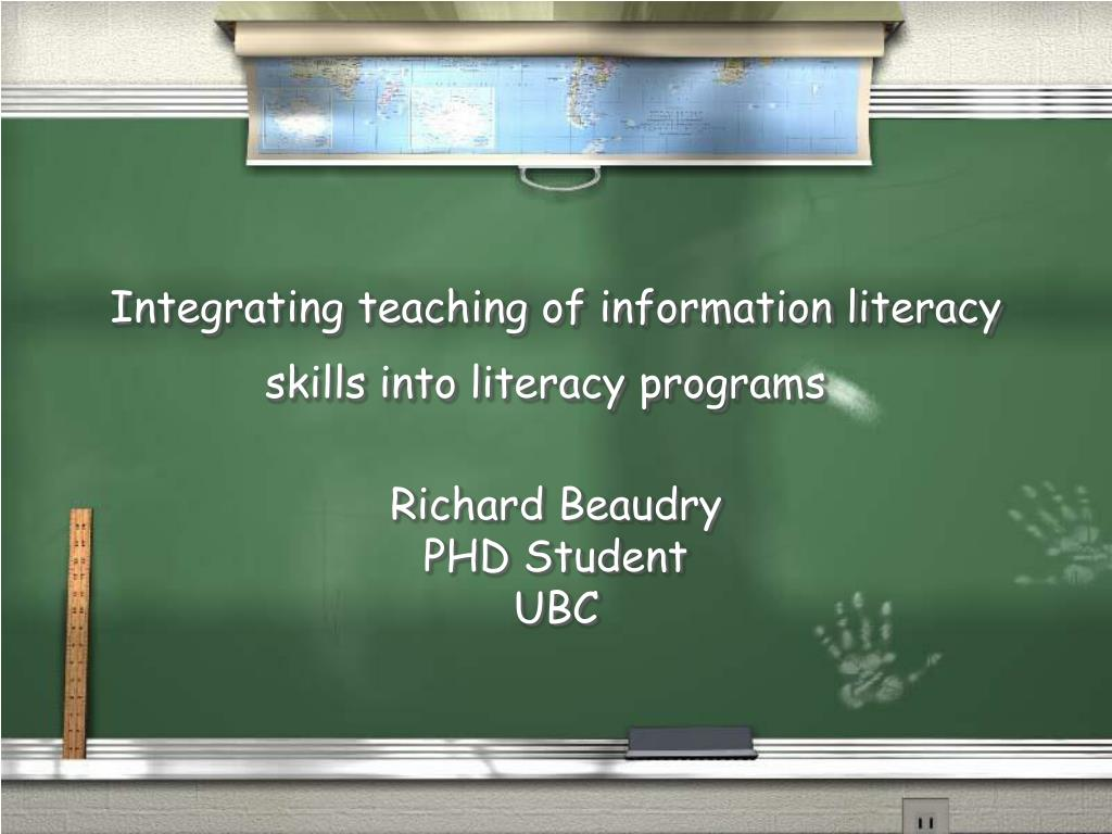 integrating teaching of information literacy skills into literacy programs l.