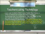 teachers using technology