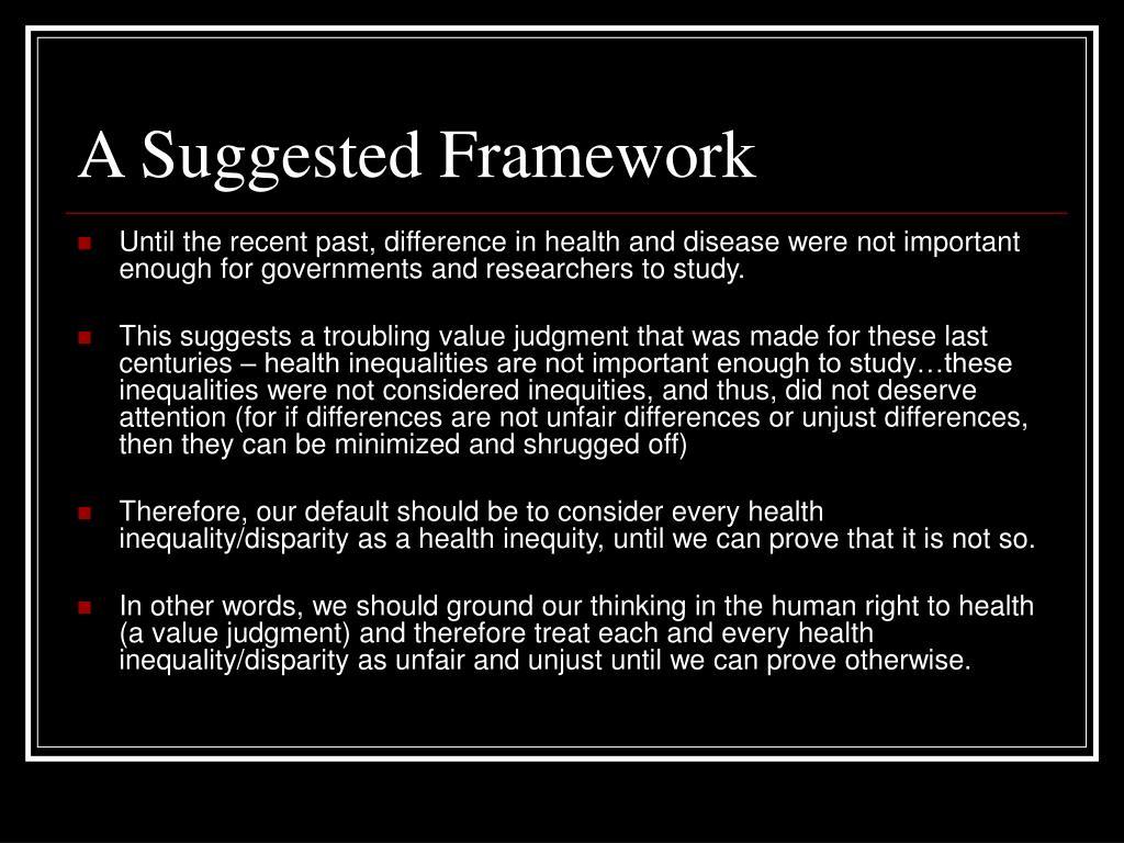 A Suggested Framework
