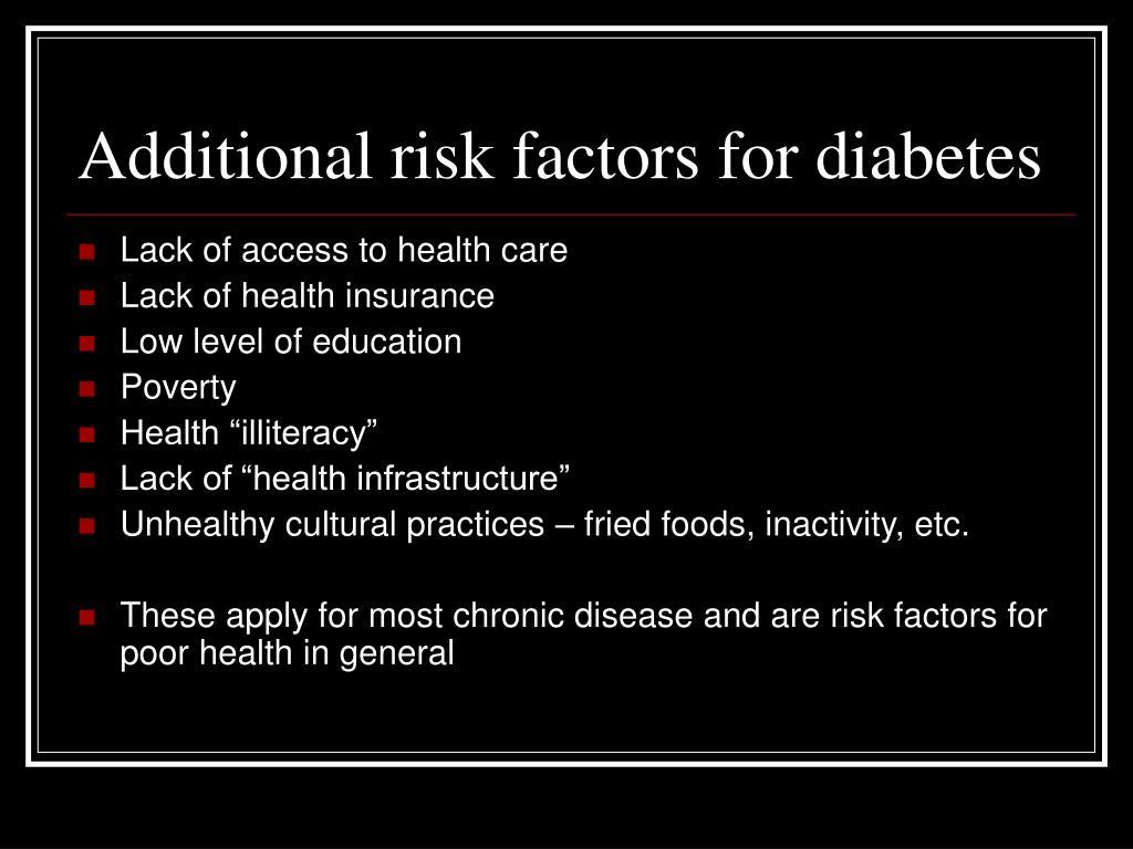 Additional risk factors for diabetes