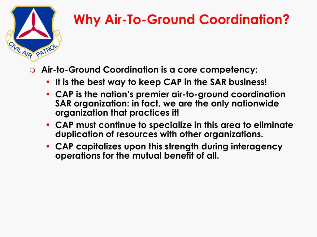 Why Air-To-Ground Coordination?